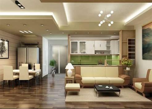 Để hóa giải điều xấu và tăng thêm tính thẩm mỹ cho căn phòng, bạn có thể sử dụng trần giả lót dưới lớp xà