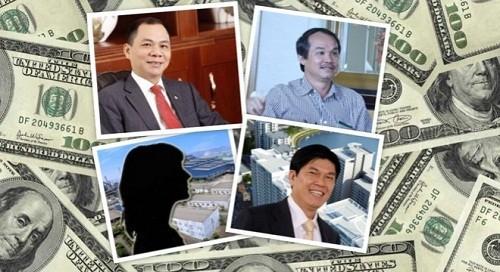 Sau một đêm hay một phiên giao dịch, hàng loạt các đại gia Việt bất ngờ có khối tài sản tăng thêm hàng ngàn tỷ đồng.