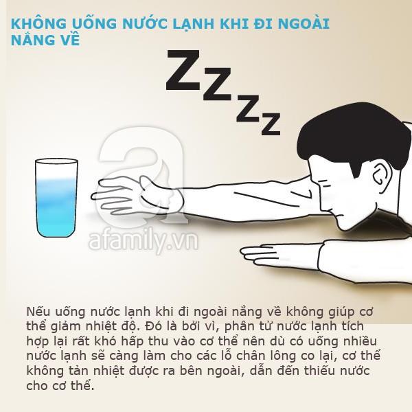 cấm kị khi uống nước lạnh 4