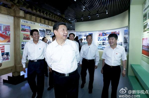 Tập Cận Bình tham quan Bảo tàng Diên Biên hôm 16/7. Ảnh: Xinhua.