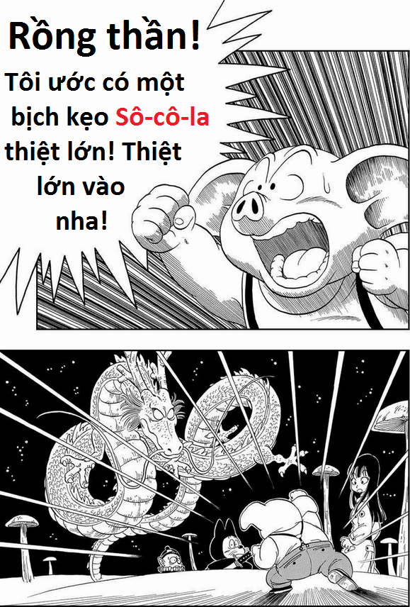 Khoảnh khắc Urôn cướp đi điều ước của Đại vương Pilaf ắt đã khiến nhiều fan truyện Dragon Ball té ghế vì bất ngờ.