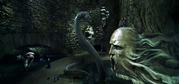Một cảnh trong Harry Potter và phòng chứa bí mật.