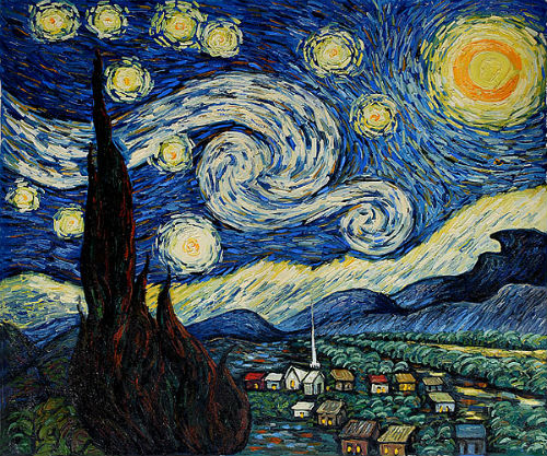 Họa phẩm Starry Night (Đêm đầy sao)