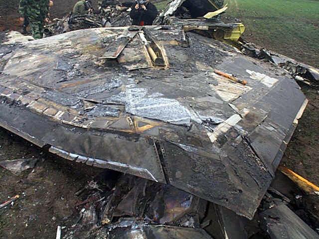 Xác chiếc F-117A bị bắn rơi