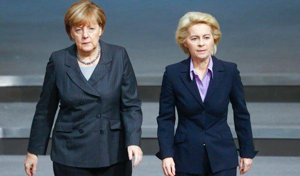 2 quý bà quyền lực nhất nước Đức. Ảnh: Reuters