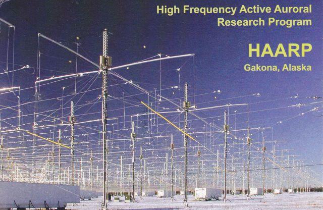 Các ăng ten phát sóng trong chương trình HAARP của Không quân Mỹ