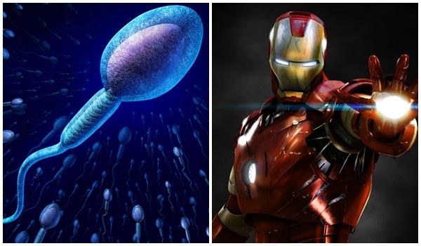 Bộ giáp bọc ngoài tinh trùng sẽ giống như Tony Stark cùng bộ áo Người sắt vậy...
