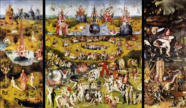 Tác phẩm The Garden of Earthly Delights của Hieronymus (Khu vườn hưởng lạc trần tục) - Hieronymus Bosch (1504)