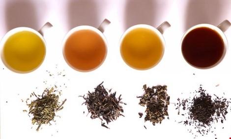 Các loại trà khác nhau sau khi pha trà sẽ ra màu nước khác nhau.