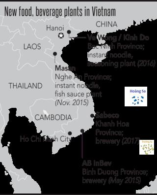 Những nhà máy sản xuất thực phẩm và đồ uống mới tại Việt Nam