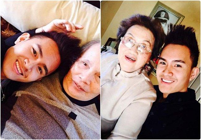 Anh chàng này còn chia sẻ ảnh chụp cùng bố mẹ đẻ của Hoài Linh.