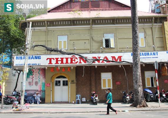 Nhà hàng Thiên Nam thuộc đường Nam Kỳ khởi nghĩa - Lê Thị Hồng Gấm nơi Năm Cam hay ăn trưa cùng Trúc Liên bang (Ảnh: Phạm An)
