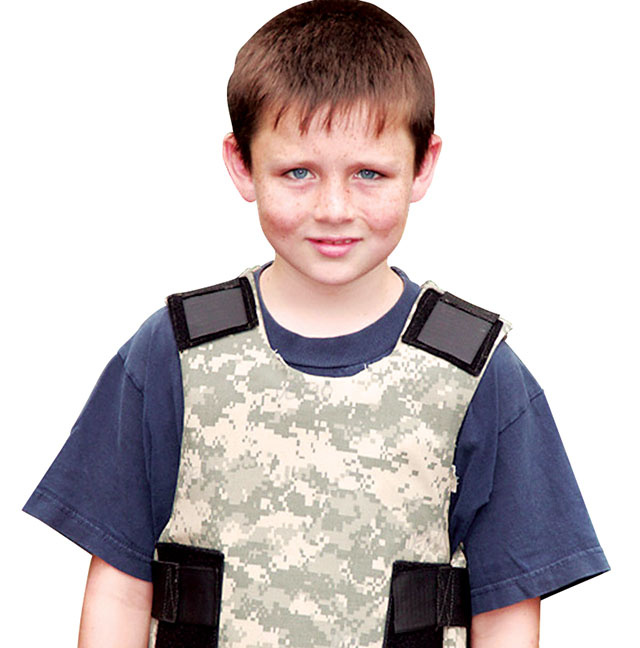 Ngay cả trẻ em cũng có thể mặc áo giáp chống đạn