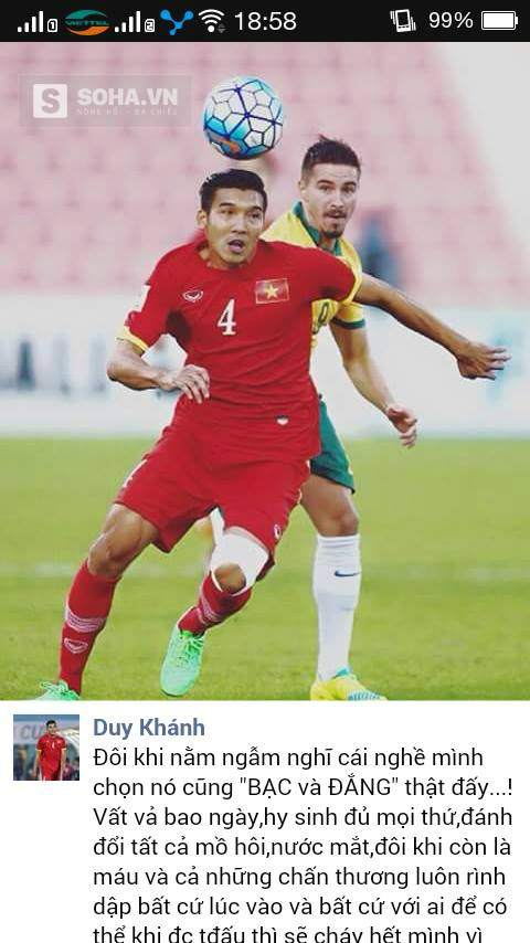 Status của Duy Khánh.