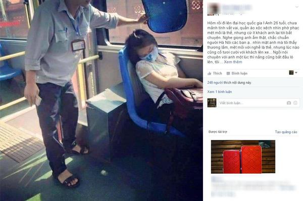Soái ca trên xe buýt cũng khiến không ít trái tim rung động.