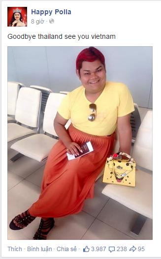 Cô nàng từng đăng tải thông tin tổ chức sinh nhật ở Việt Nam