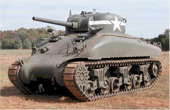 Xe tăng M4A1 Sherman nguyên bản
