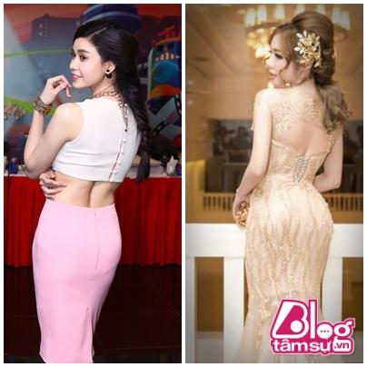Dù mặc đồ bikini hay đi sự kiện thì thân hình Elly vẫn lấn át Trương Quỳnh Anh