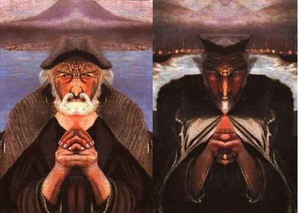 Thiên thần - ác quỷ đều hiện lên trong bức tranh Ông lão đánh cá của Tivadar Kosztka