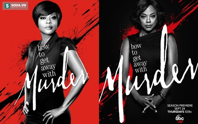 Poster 2 mùa phim How to get away with murder.