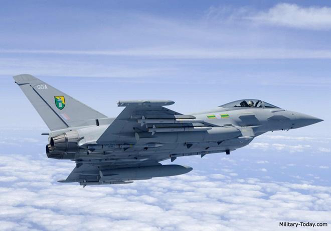 ASRAAM là tên lửa hồng ngoại chủ lực của tiêm kích Typhoon. Ảnh: Military Today