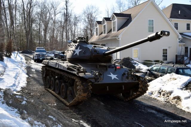 Xe tăng M41 của một nhà sưu tập vũ khí