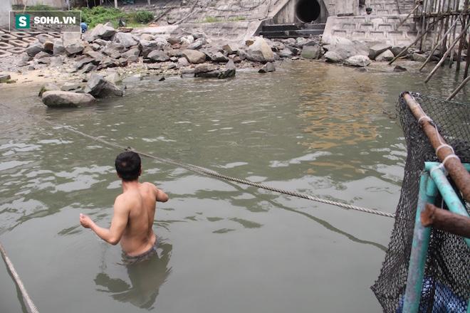 Ở vùng biển Vũng Áng, người dân vẫn xuống biển bình thường vì họ cho biết, nước biển sạch, không gây ngứa hay bệnh gì.