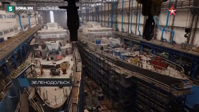 Hình ảnh cặp tàu Gepard thứ hai của Hải quân nhân dân Việt Nam đang được đóng tại nhà máy Zelenodolsk