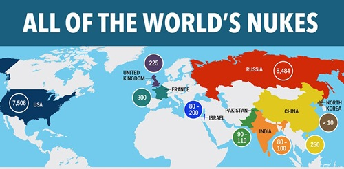 Tiềm năng các quốc gia hạt nhân trên thế giới. Đồ họa: BI