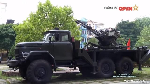 Pháo ZU-23-2M do Viện Tự động hóa Kỹ thuật quân sự (thuộc Viện Khoa học Công nghệ Quân sự) nghiên cứu chế tạo. Ảnh: Truyền hình QPVN.
