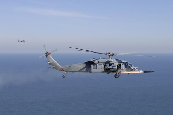 Trực thăng đa năng MH-60R nhả đạn