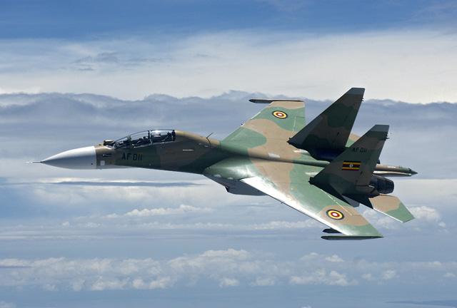 Máy bay Su-30MK2 của Không quân Uganda