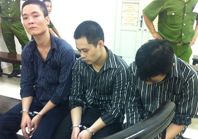 Các bị cáo tại tòa chiều nay. (Ảnh: MĐ/Zing)
