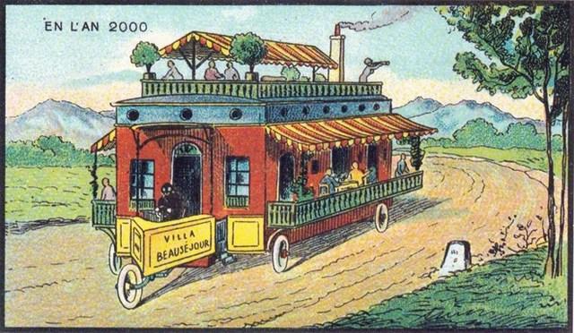 Nhiều người có thể cùng sống và đi du lịch trên một phương tiện như thế này.