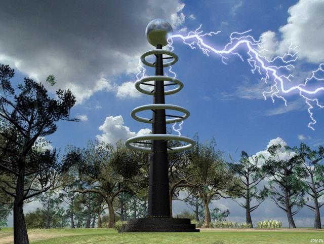 Một trụ Tesla Coil đang phóng điện