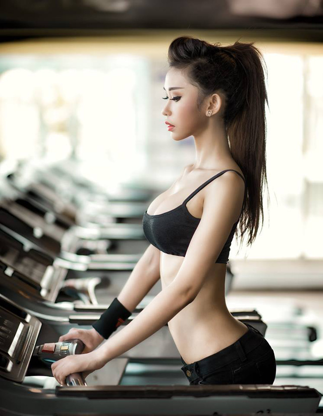 Theo Hoài Phương, kiên trì tập gym kết hợp chế độ ăn hợp lí bạn sẽ có sức khỏe và thể hình lí tưởng
