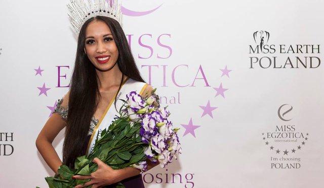 Magdalena Ho vinh dự nhận giải Hoa hậu Trái đất Ba Lan 2015