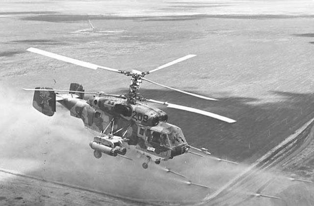 Nhìn chung, hỏa lực của Ka-29 không thua kém các mẫu trực thăng tấn công của lục quân, nó thừa khả năng quét sạch xe tăng, xe thiết giáp, phá tan tành công sự kiên cố của kẻ địch trên bờ biển. Trong ảnh, trực thăng tấn công Ka-29 đang phóng rocket.