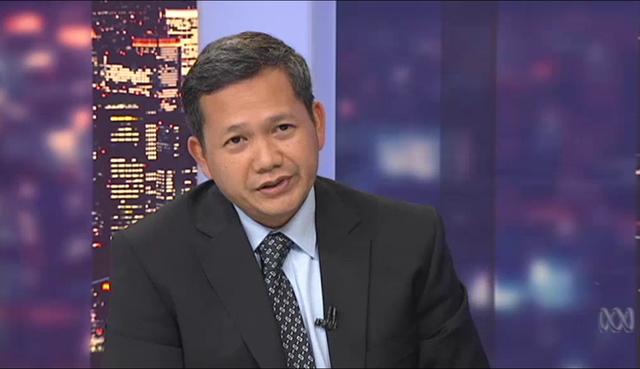 Ông Hun Manet trong cuộc phỏng vấn trên kênh ABC