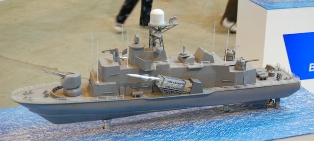 Mô hình tàu tên lửa lớp Veer sử dụng tên lửa chống hạm BrahMos