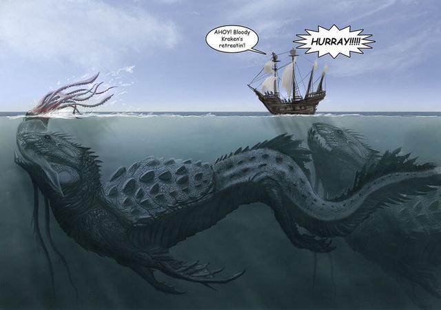 Leviathan trong kinh thánh được nhắc đến như một quái vật biển khổng lồ và  hung dữ .