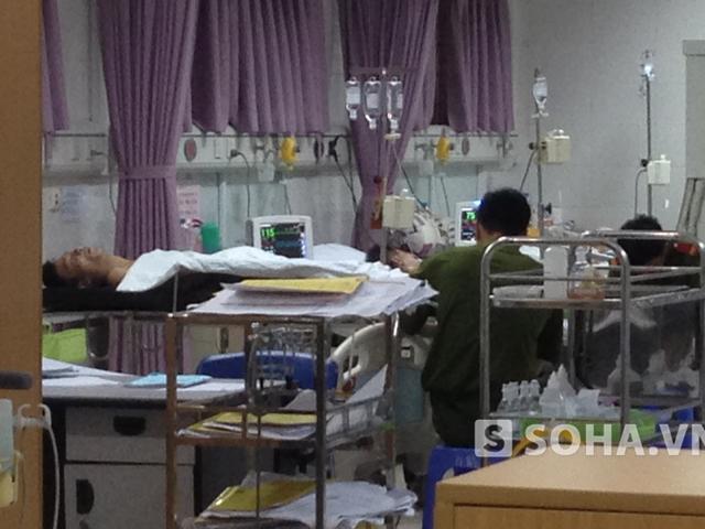 Bệnh nhân Vũ khi được điều trị tại bệnh viện.