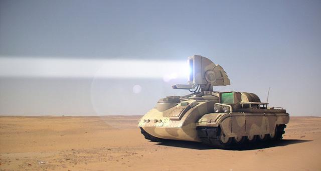 Một chiếc Prism Tank đang khai hỏa