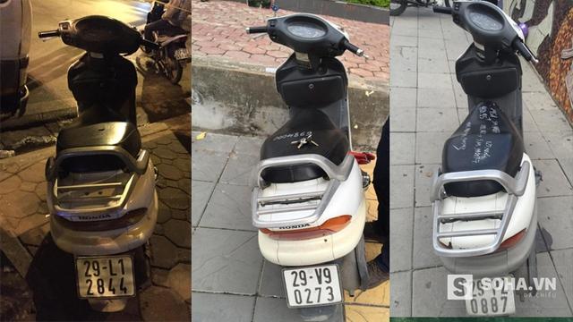 Liên tiếp trong 3 ngày tổ công tác Y7/141 phát hiện 3 chiếc Honda Spacy bị đục số khung số máy
