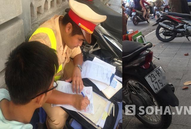 Cảnh sát vẫn kiên quyết lập biên bản vi phạm