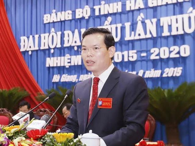 Ông Triệu Tài Vinh, Bí thư Tỉnh ủy Hà Giang. Ảnh: Vietnamplus