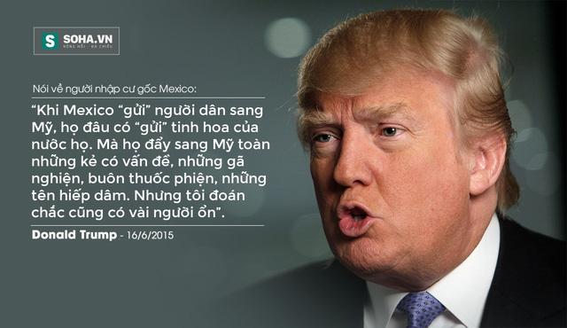 Xem các phát ngôn gây tranh cãi của Donald Trump tại đây: >> TUYỂN TẬP NHỮNG PHÁT NGÔN KINH THIÊN ĐỘNG ĐỊA CỦA DONALD TRUMP