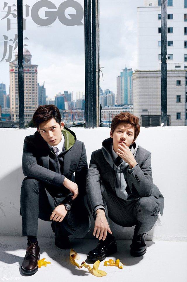 Loạt ảnh hai ngôi sao trẻ trên tạp chí GQ Trung Quốc từng khiến các trái tim fan nữ loạn nhịp.