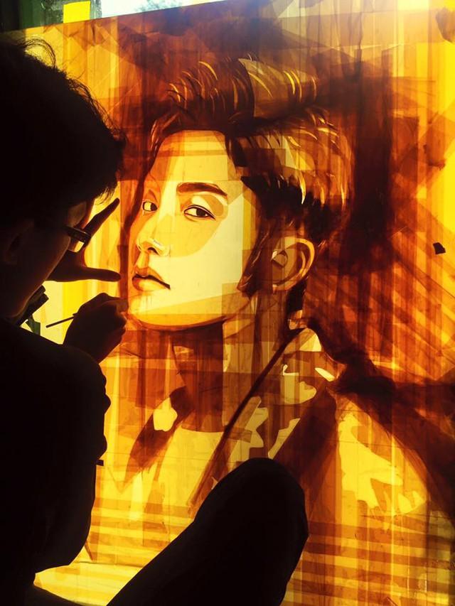 Sơn Tùng MTP điển trai qua tài vẽ tranh của chàng trai sinh năm 1998