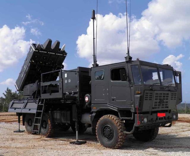 Xe bệ phóng của tổ hợp tên lửa Spyder-SR.